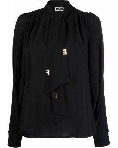 Bluzka z wiskozy - czarna Elisabetta Franchi