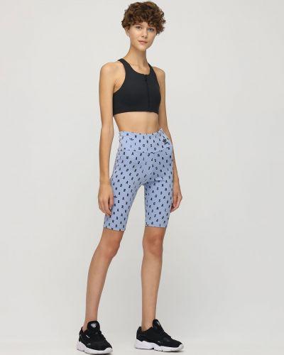 Синие спортивные шорты эластичные Adidas Originals