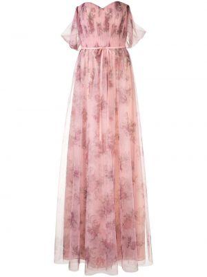 Платье с открытыми плечами - розовое Marchesa Notte