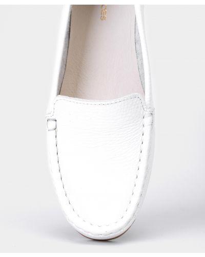 Кожаные белые мокасины Filipe Shoes