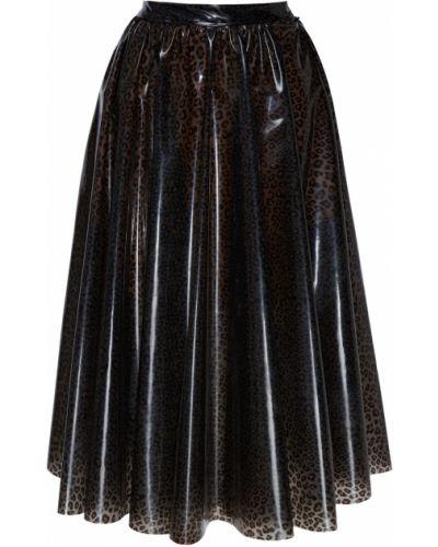 Юбка миди с завышенной талией юбка-колокол Msgm