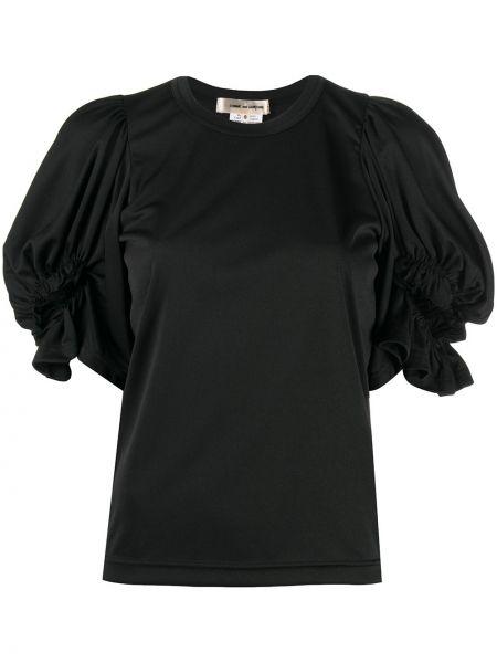 Прямая черная футболка с вырезом Comme Des Garçons
