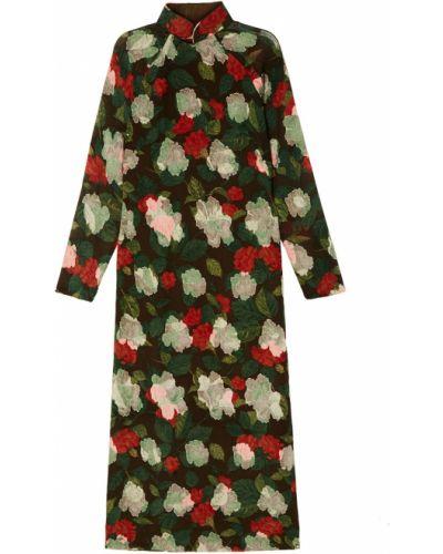 Платье миди облегающее восточное Vintage No Names