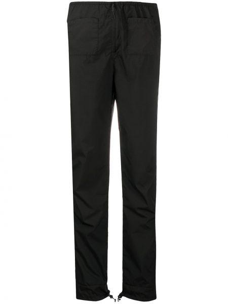 Черные прямые спортивные брюки на молнии с низкой посадкой Soulland