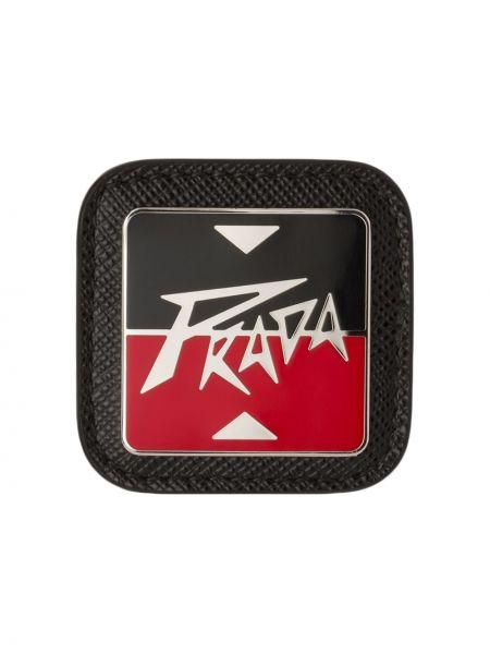 Брошь металлическая - черная Prada