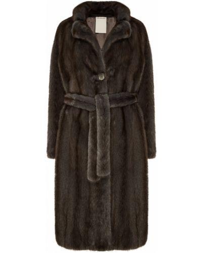 Пальто с поясом однобортное Color Temperature