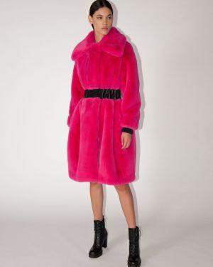 Кожаная куртка оверсайз с карманами Karl Lagerfeld