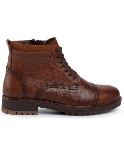 Кожаные ботинки - коричневые Quazi