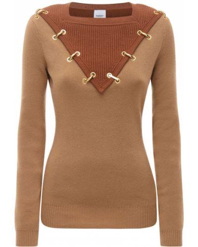 Шерстяной свитер с воротником с декольте Burberry