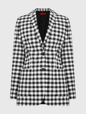 Пиджак в клетку - серый Max & Co