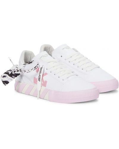 Со стрелками текстильные белые кроссовки Off-white