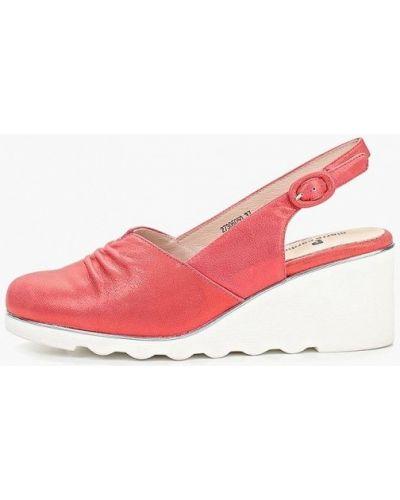 Туфли на каблуке кожаные с открытой пяткой Pierre Cardin