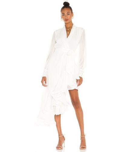 Деловое белое платье с подкладкой на молнии Elliatt