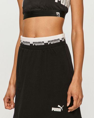 Czarna spódnica mini dzianinowa z printem Puma
