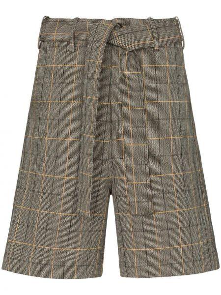 Коричневые шорты с карманами Plan C