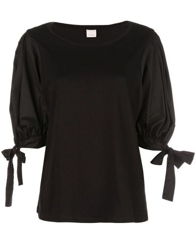 Блузка с бантом черная Cinq A Sept