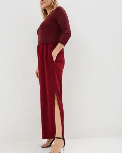 Повседневное платье осеннее красный Sparada