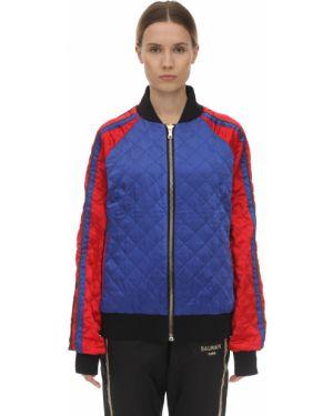 Niebieska kurtka z haftem z raglanowymi rękawami Puma X Balmain