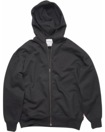 Czarna kurtka z kapturem bawełniana Acne Studios