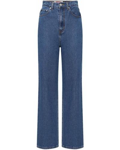 Синие с завышенной талией джинсы с карманами Levi's Red Tab