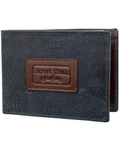 Кожаный кошелек - синий Forever Young