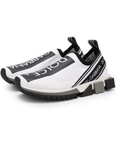 Белые кроссовки Dolce & Gabbana