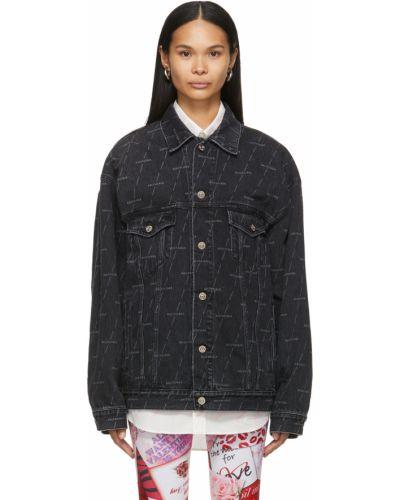 Черная куртка с воротником Balenciaga