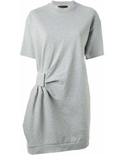 Платье серое со складками Marc By Marc Jacobs