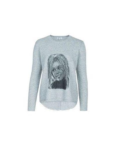 Акриловый серый джемпер Brigitte Bardot