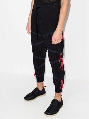 Черные хлопковые брюки Greg Lauren