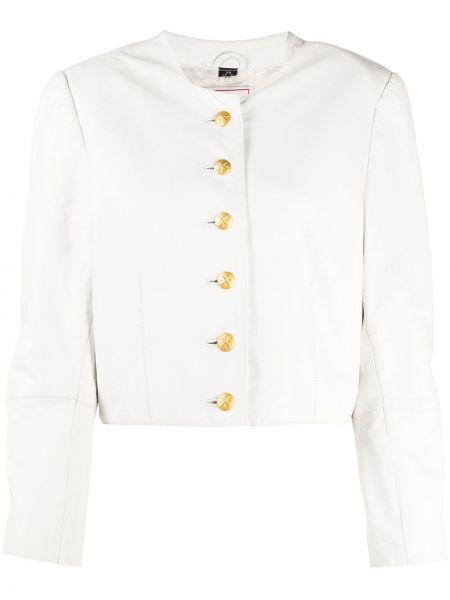 Кожаная короткая куртка винтажная на пуговицах A.n.g.e.l.o. Vintage Cult