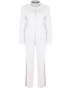 Белый спортивный костюм с поясом на молнии Capobianco