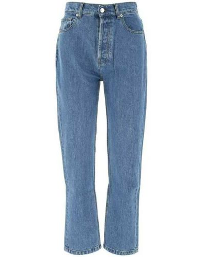 Niebieskie mom jeans Nanushka