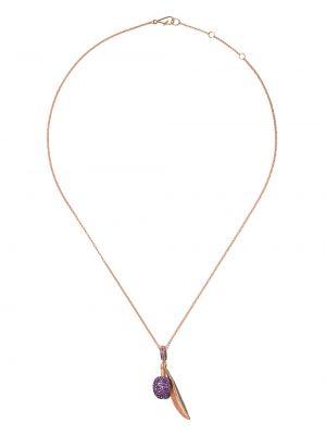 Zielony złoty naszyjnik z diamentem Annoushka