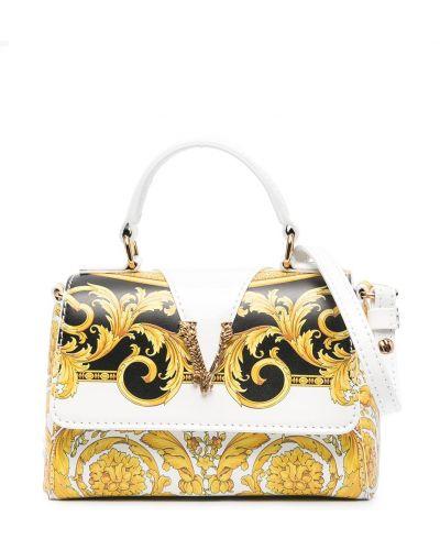 Черная сумка на плечо круглая Young Versace