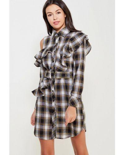 Платье платье-рубашка черное Paccio