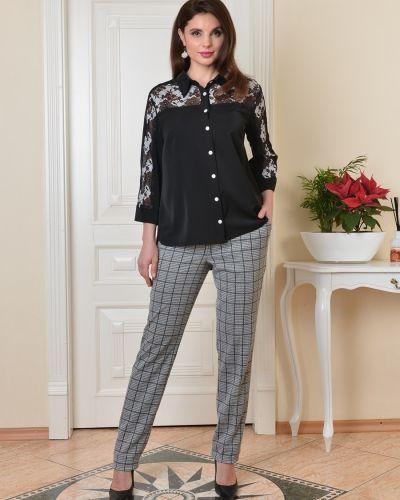 Гипюровая кружевная блузка с воротником Salvi-s