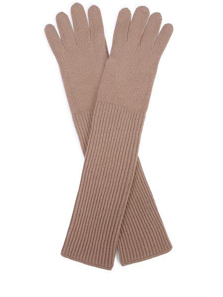 Кашемировые бежевые перчатки длинные Malo