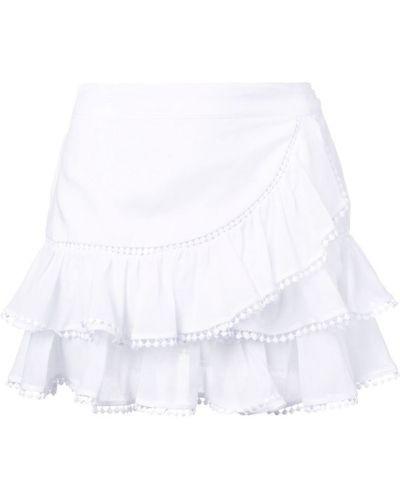 Плиссированная приталенная юбка мини с оборками Charo Ruiz