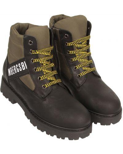 Черные кожаные ботинки Bikkembergs