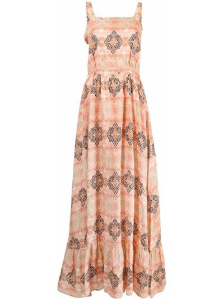 Розовое платье макси без рукавов с вырезом We Are Kindred