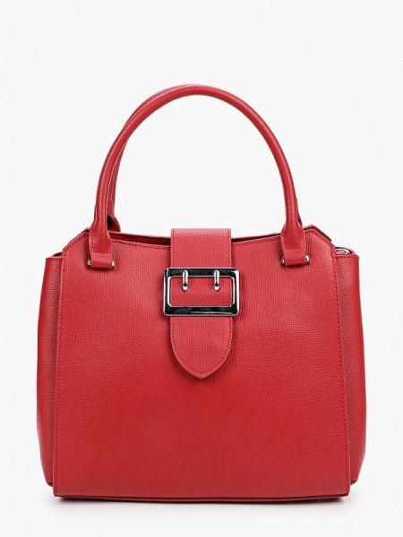 Красная кожаная сумка из натуральной кожи снежная королева