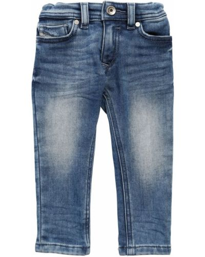 Bawełna bawełna niebieski jeansy z kieszeniami Diesel Kids