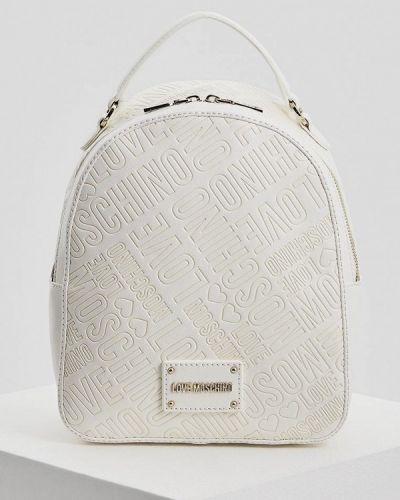 Белый рюкзак Love Moschino
