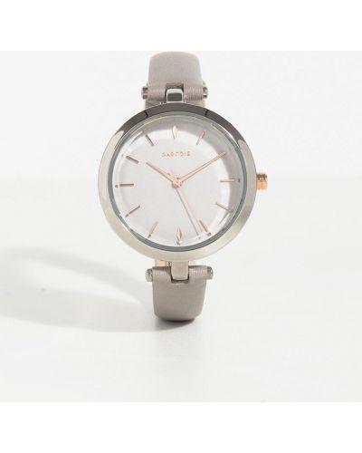 Часы с круглым циферблатом серые Parfois