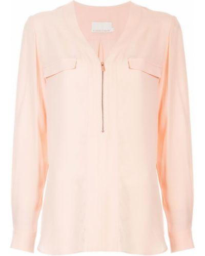 Блузка с длинным рукавом розовая в полоску Ginger & Smart