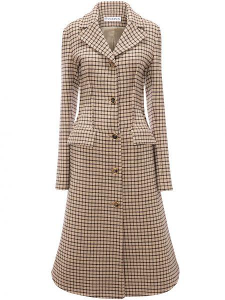 Приталенное шерстяное пальто на пуговицах с лацканами Jw Anderson