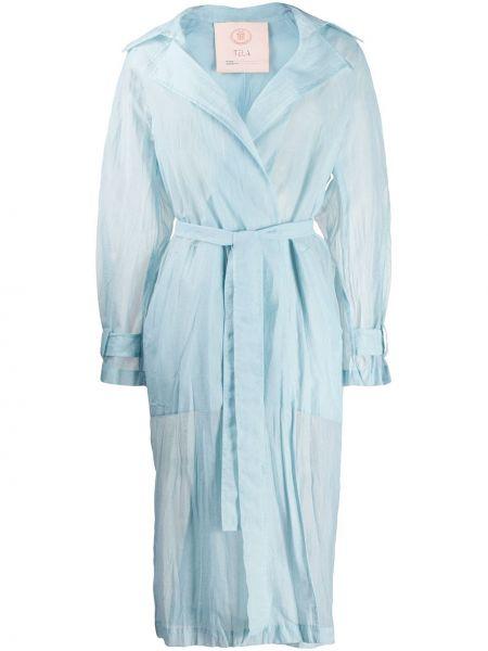 Płaszcz z kieszeniami niebieski Tela