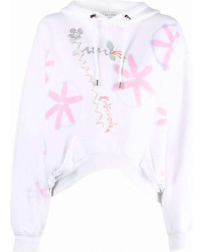 Bluza z nadrukiem z printem - biała Collina Strada