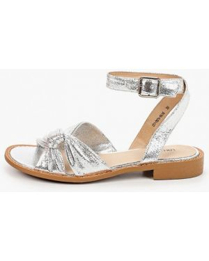 Кожаные серебряные сандалии Lolli L Polli